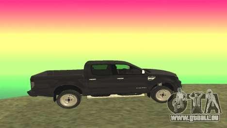 Ford Ranger Limited 2014 pour GTA San Andreas laissé vue