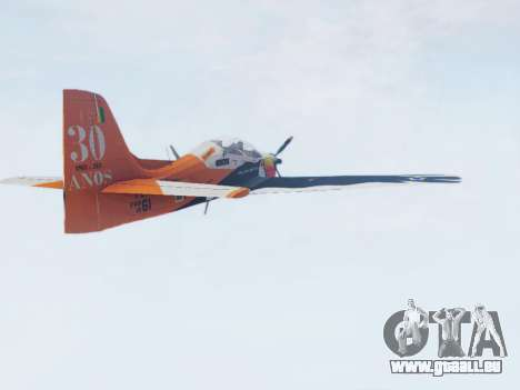 Embraer T-27 Tucano 30 Anos für GTA San Andreas linke Ansicht