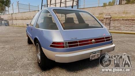 Declasse Rhapsody für GTA 4 hinten links Ansicht