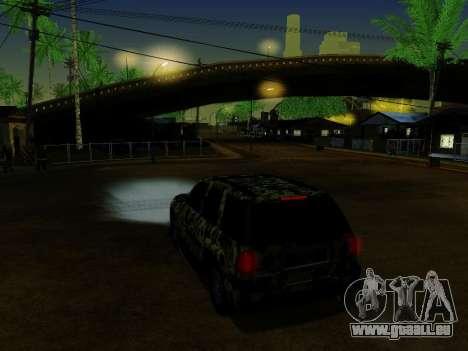 Chevrolet TrailBlazer Army für GTA San Andreas Unteransicht