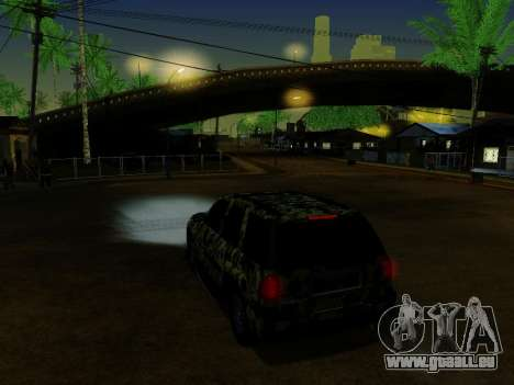 Chevrolet TrailBlazer Army pour GTA San Andreas vue de dessous