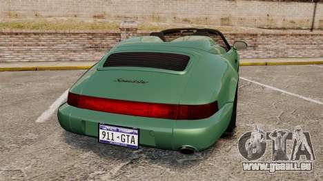 Porsche 911 Speedster pour GTA 4 Vue arrière de la gauche