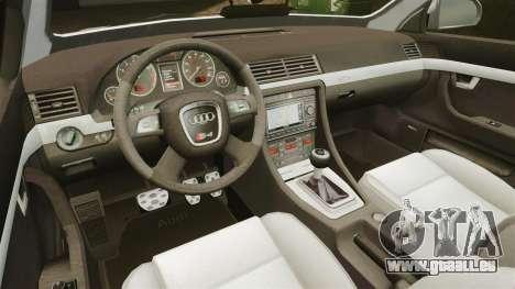 Audi S4 Avant Hungarian Police [ELS] für GTA 4 Seitenansicht
