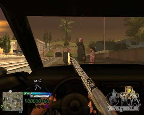Vue à partir de la première personne pour GTA San Andreas quatrième écran