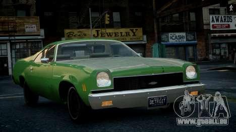Chevrolet El Camino 1973 Old für GTA 4 Innenansicht