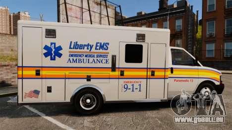 Brute Speedo LEMS Ambulance [ELS] für GTA 4 linke Ansicht