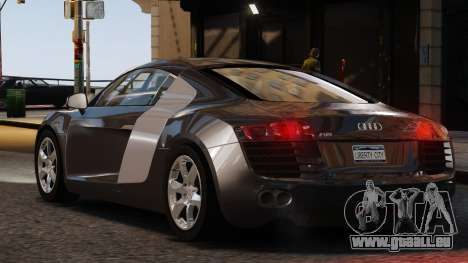 Audi R8 v1.1 pour GTA 4 est une gauche