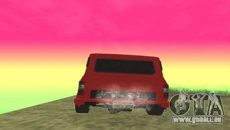 Ford Transit Supervan 3 Custom für GTA San Andreas zurück linke Ansicht