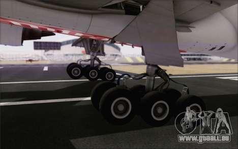 Emirates Airlines 777-200 für GTA San Andreas Rückansicht