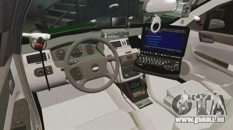 Chevrolet Impala 2010 Broward Sheriff [ELS] pour GTA 4 Vue arrière