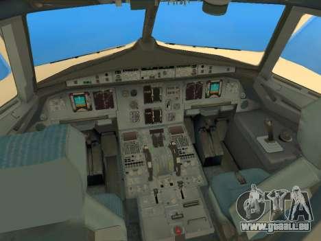 Airbus A320-200 Saudi Arabian für GTA San Andreas Innenansicht