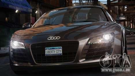 Audi R8 v1.1 pour GTA 4 Vue arrière