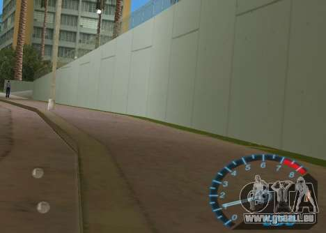 Le compteur de vitesse de NFS Underground GTA Vice City pour la deuxième capture d'écran