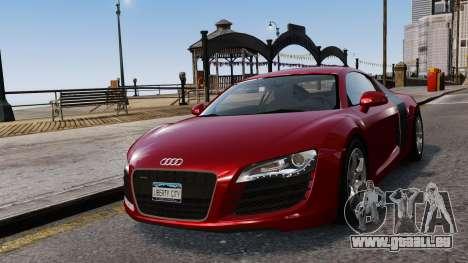 Audi R8 v1.1 pour GTA 4 vue de dessus