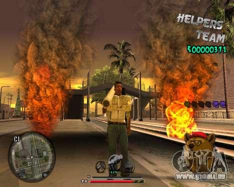 C-HUD Bear pour GTA San Andreas troisième écran
