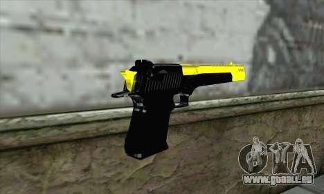 Yellow Desert Eagle für GTA San Andreas zweiten Screenshot
