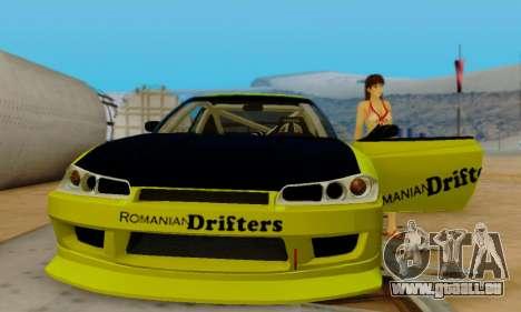 Nissan Silvia S15 Romanian Drifters für GTA San Andreas obere Ansicht