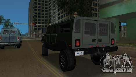 Hummer H1 Wagon pour GTA Vice City sur la vue arrière gauche