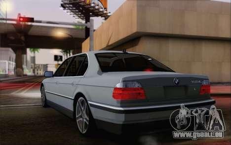 BMW 730d pour GTA San Andreas laissé vue