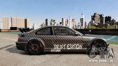 BMW M3 GTR 2012 Drift Edition für GTA 4 linke Ansicht