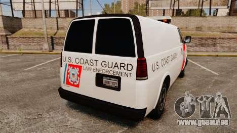 Vapid Speedo U.S. Coast Guard pour GTA 4 Vue arrière de la gauche