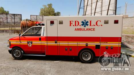 Brute FDLC Ambulance für GTA 4 linke Ansicht