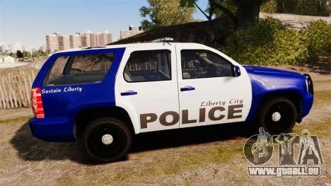 Chevrolet Tahoe 2008 LCPD [ELS] pour GTA 4 est une gauche