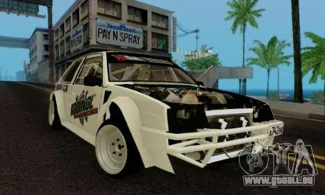 VAZ 2108 RDA pour GTA San Andreas laissé vue