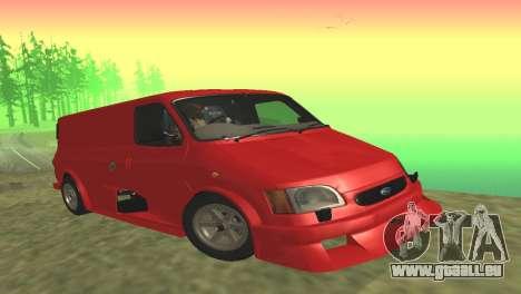 Ford Transit Supervan 3 Personnalisés pour GTA San Andreas