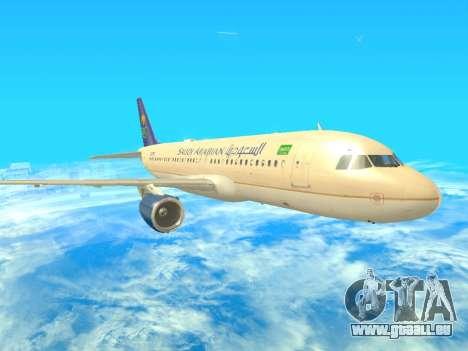 Airbus A320-200 Saudi Arabian für GTA San Andreas linke Ansicht