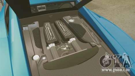 Lamborghini Gallardo Gendarmerie National [ELS] pour GTA 4 est une vue de l'intérieur