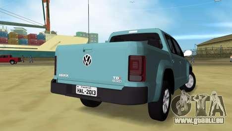 Volkswagen Amarok 2.0 TDi AWD Trendline 2012 für GTA Vice City linke Ansicht
