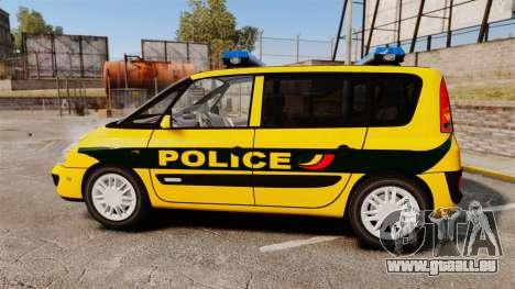 Renault Espace Police Nationale [ELS] für GTA 4 linke Ansicht