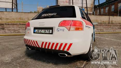 Audi S4 Avant Hungarian Police [ELS] für GTA 4 hinten links Ansicht