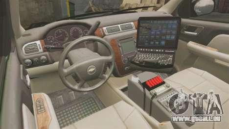 Chevrolet Tahoe 2008 LCPD [ELS] für GTA 4 Rückansicht