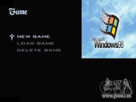 Das Windows-Menü für GTA San Andreas zweiten Screenshot