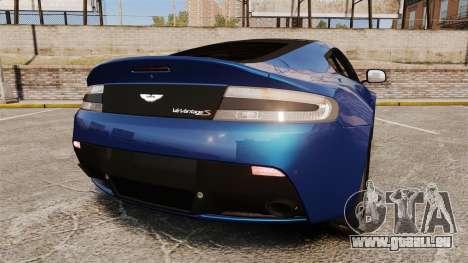 Aston Martin V12 Vantage S 2013 pour GTA 4 Vue arrière de la gauche