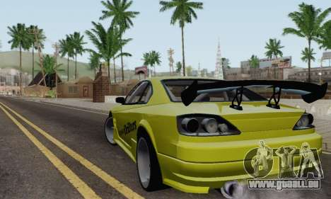 Nissan Silvia S15 Romanian Drifters für GTA San Andreas zurück linke Ansicht