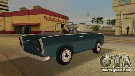 Trabant 601 Custom pour une vue GTA Vice City de la droite