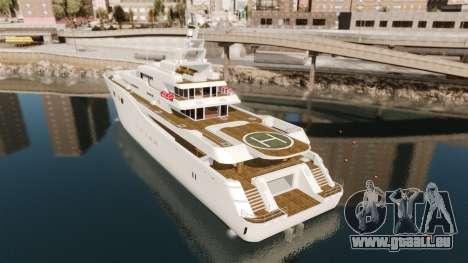 Plein de yacht pour GTA 4 Vue arrière de la gauche