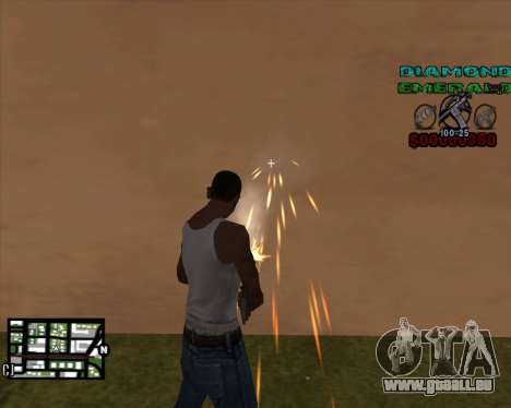 C-HUD Diamond Emerald für GTA San Andreas zweiten Screenshot