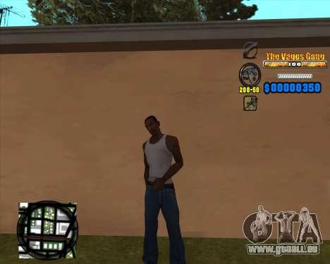 C-HUD Los Santos Vagos Gang für GTA San Andreas zweiten Screenshot
