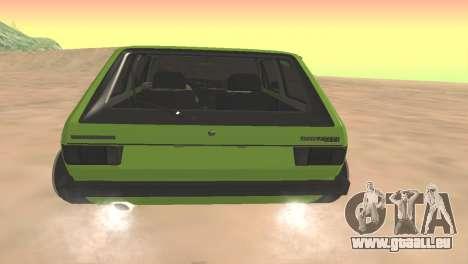 Volkswagen Golf Mk1 Low pour GTA San Andreas vue de droite