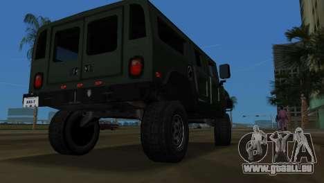 Hummer H1 Wagon pour une vue GTA Vice City de la droite