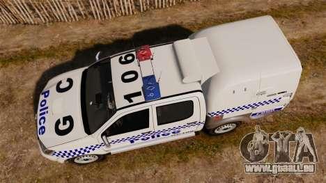 Toyota Hilux Police Western Australia pour GTA 4 est un droit