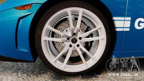 Lamborghini Gallardo Gendarmerie National [ELS] pour GTA 4 Vue arrière
