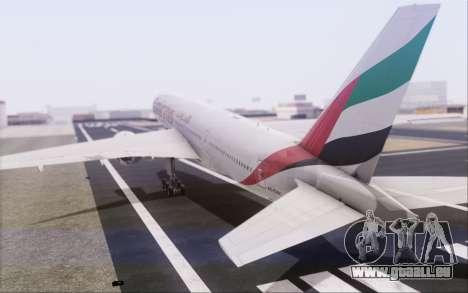 Emirates Airlines 777-200 für GTA San Andreas Innenansicht