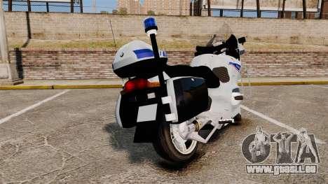 BMW R1150RT Police nationale [ELS] v2.0 pour GTA 4 Vue arrière de la gauche