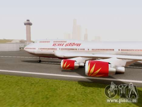 Boeing 747 Air India für GTA San Andreas linke Ansicht
