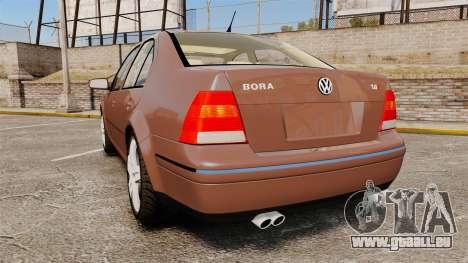 Volkswagen Bora 1.8T Camel pour GTA 4 Vue arrière de la gauche